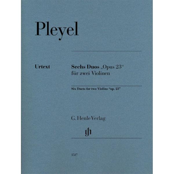 Six Duets op. 23 for two Violins. Ignaz Pleyel